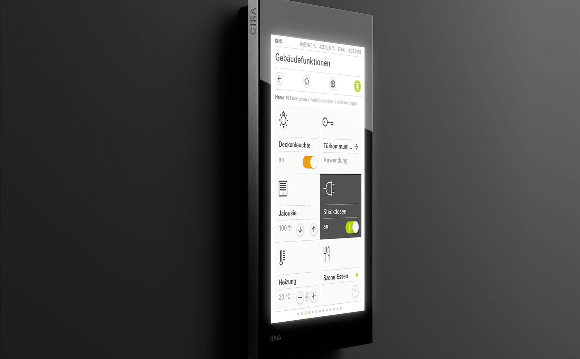 Gira G1 как устройство управления помещением KNX - Модуль датчика температуры
